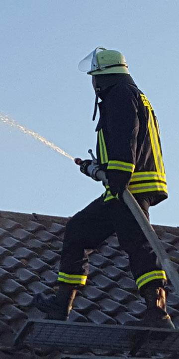 Löschen vom Dach aus
