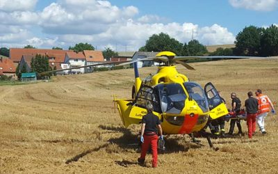 Rettungshubschrauber für Schwerverletzten