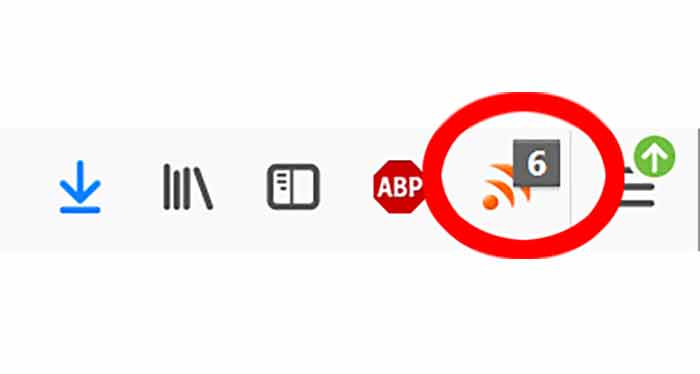 RSS-Icon im Browser